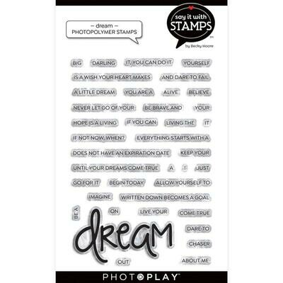 PhotoPlay Say It With Stamps Stamp Set - Dream