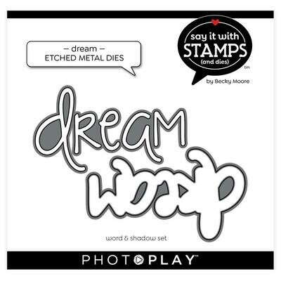 PhotoPlay Say It With Stamps Die Set Dream
