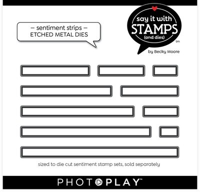 PhotoPlay Die, Say It With Stamps - Sentiment Strips