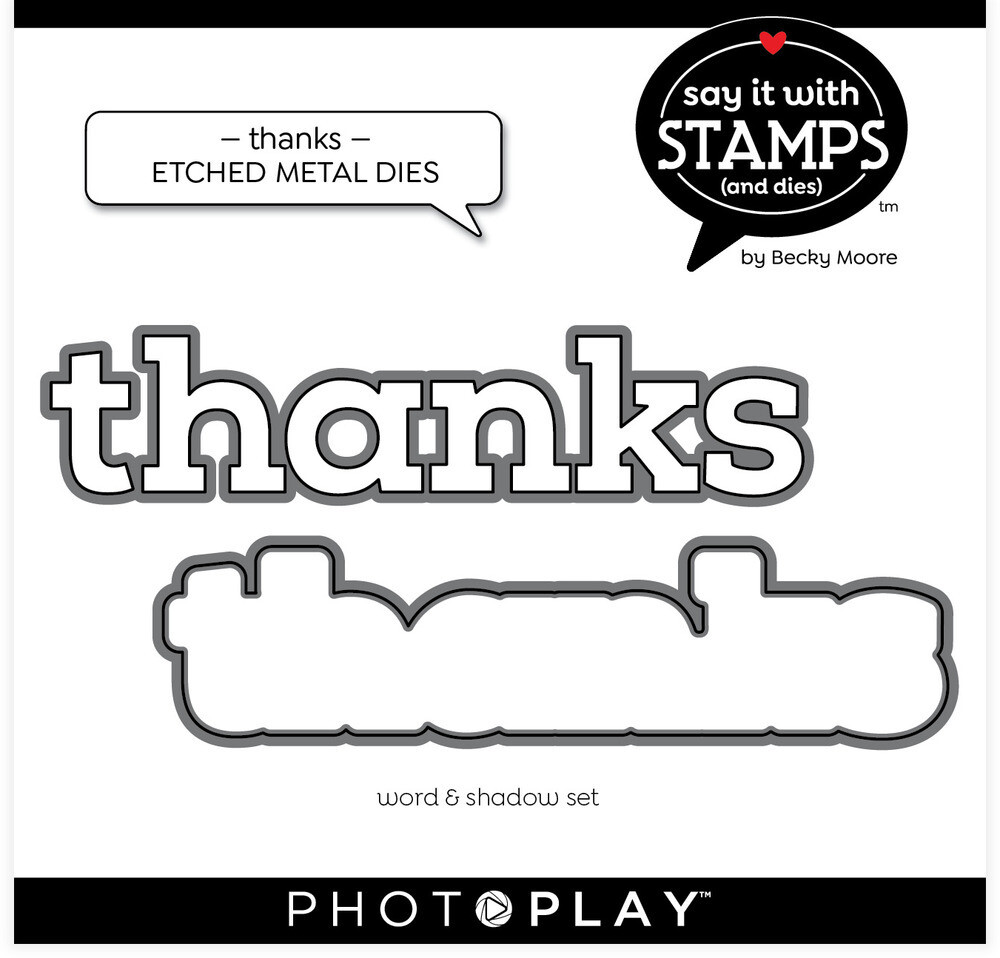 PhotoPlay Paper Die, Say It With Stamps - Thanks