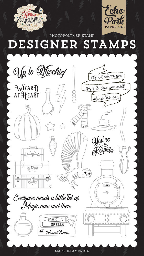 Echo Park Clear Stamp, Witches & Wizards - Wizard at Heart