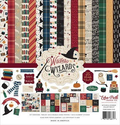Echo Park 12X12 Collection Kit, Witches & Wizards