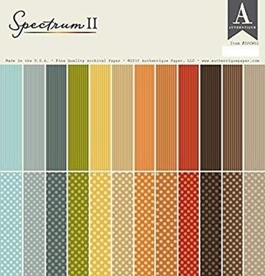Authentique Paper 12X12 Spectrum Series Paper Pad, 2