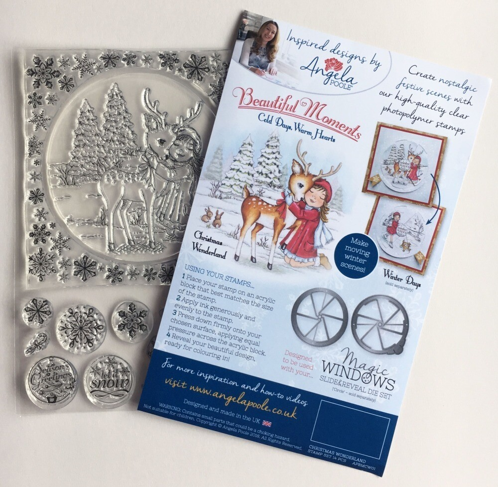 Angela Poole Clear Stamp, Cold Days Warm Hearts - Christmas Wonderland