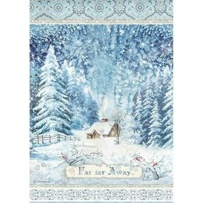 Stamperia Rice Paper Sheet A4 Far Far Away, Winter Tales