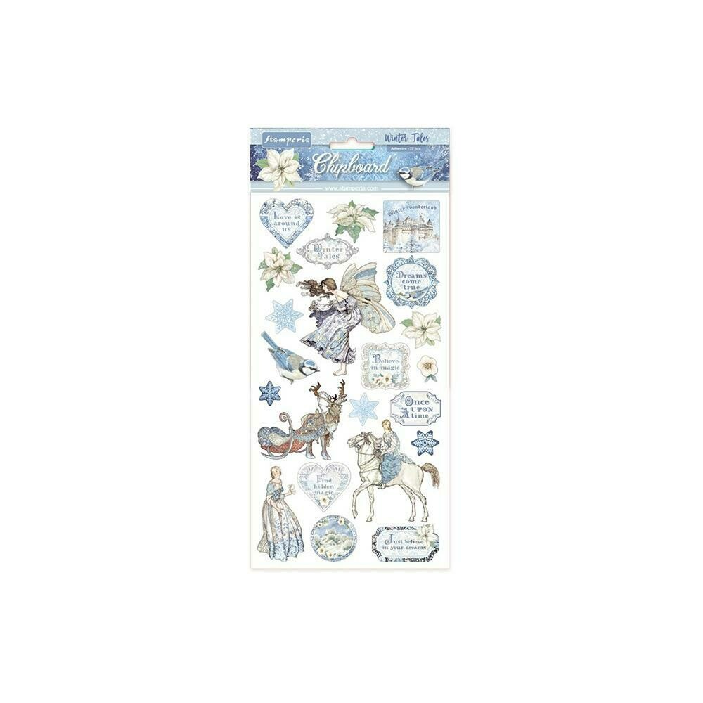 "Stamperia Adhesive Chipboard 6""X12"" Winter Tales"