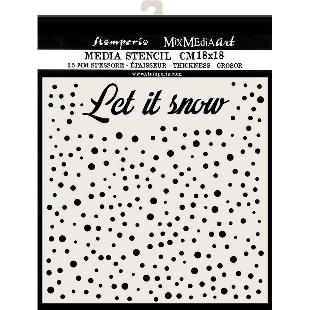 """Stamperia Stencil 7.08""""X7.08"""" Let It Snow"""