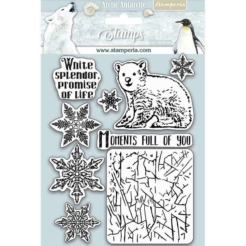 """Stamperia Cling Rubber Stamp 5.5""""X7"""" Moments Full Of You, Arctic Antarctic"""