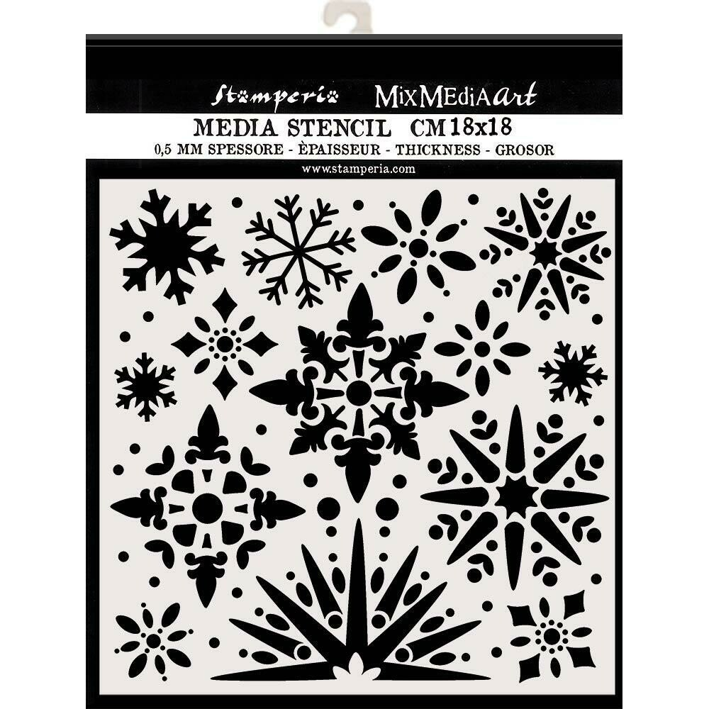 "Stamperia Stencil 7.08""X7.08"" Snowflakes"