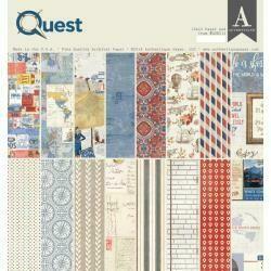 """Authentique Double-Sided Cardstock Pad 12""""X12"""" 18/pkg Quest"""