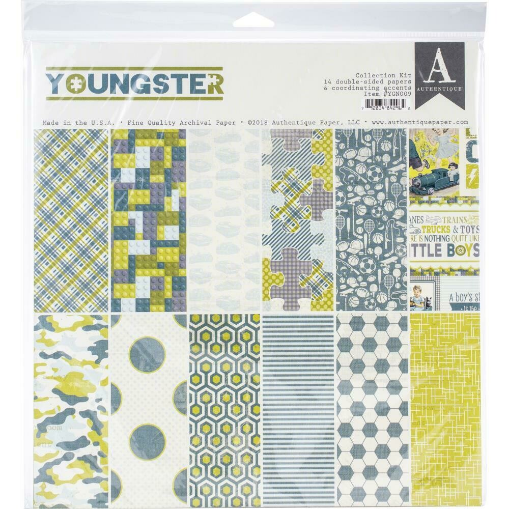 "Authentique Collection Kit 12""X12"" Youngster"