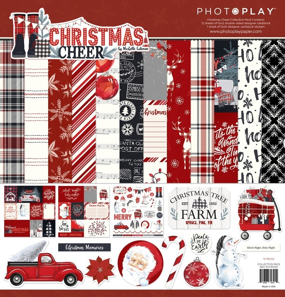 Christmas Cheer 12X12 Collection Pack by Photoplay
