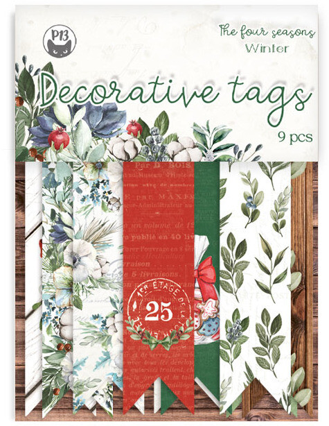 P13 Decorative Tags, The Four Seasons - Winter 03