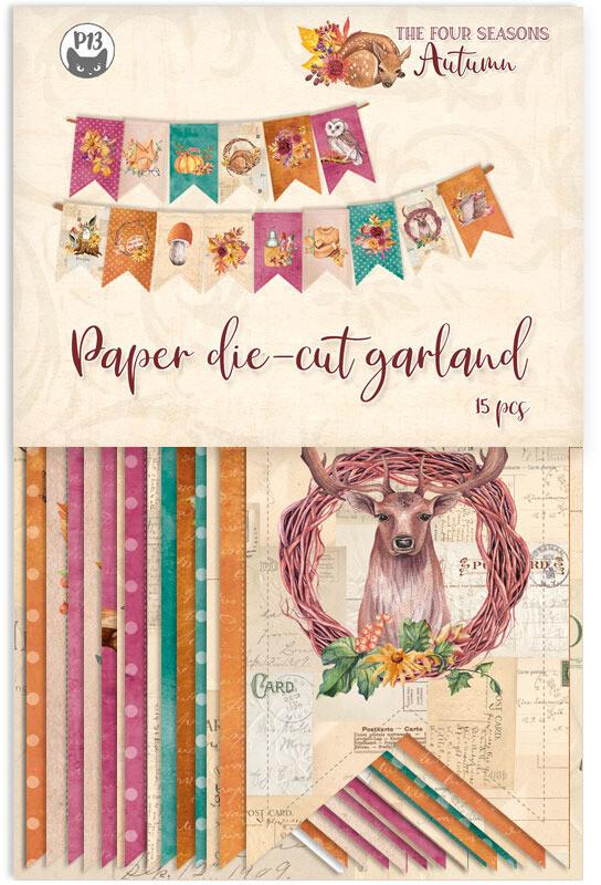 P13 Die Cuts, The Four Seasons - Autumn (Garland)