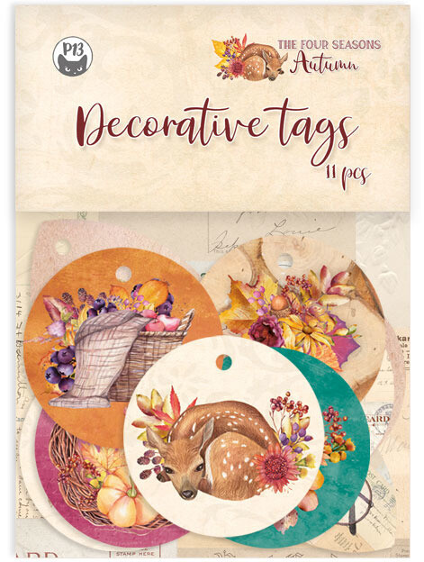 P13 Decorative Tags, The Four Seasons - Autumn 01