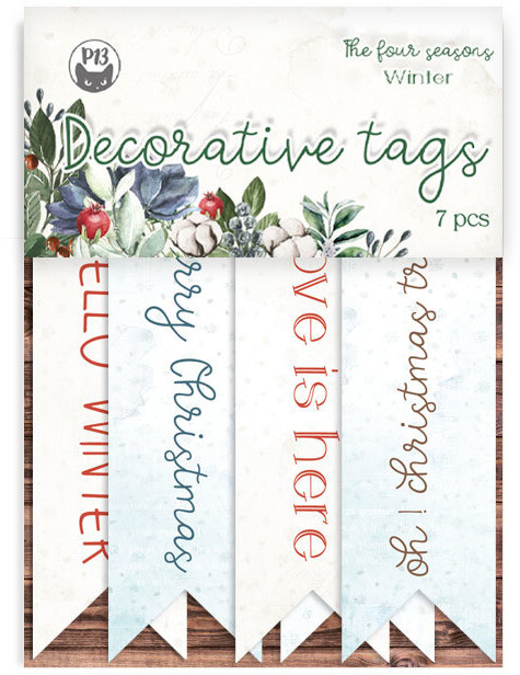 P13 Decorative Tags, The Four Seasons - Winter 02
