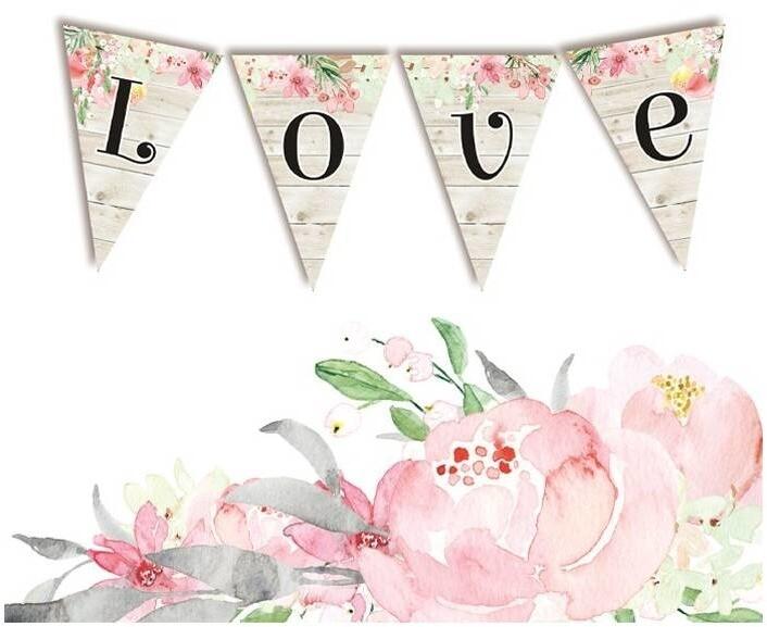 P13 Die Cuts, Love in Bloom - Love (Garland)
