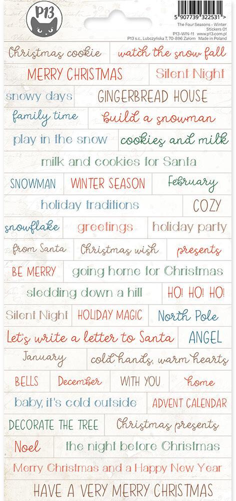 P13 Sticker Sheet, The Four Seasons - Winter 01