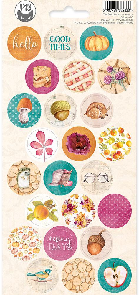 P13 Sticker Sheet, The Four Seasons - Autumn 03