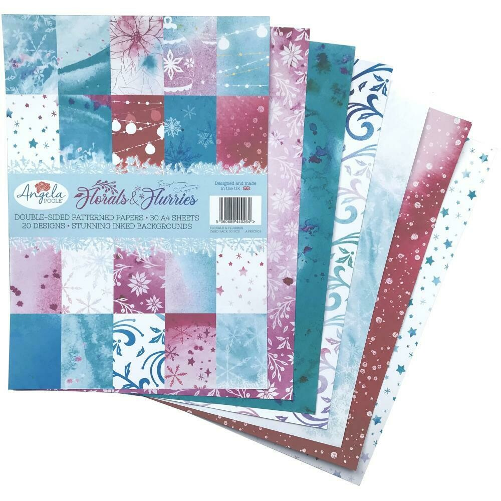 Angela Poole Double-Sided A4 Cardstock Pack Florals & Flurries