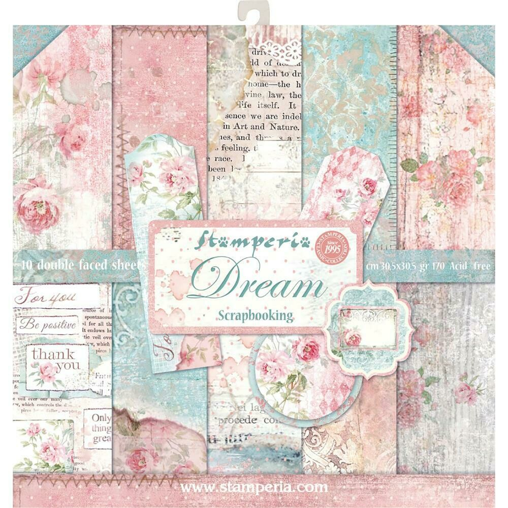 """Stamperia Double-Sided Paper Pad 12""""X12"""" 10/Pkg Dream, 10 Designs/1 Each"""
