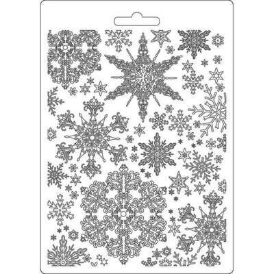 Stamperia Soft Maxi Mould A5 Snowflakes, Winter Tales