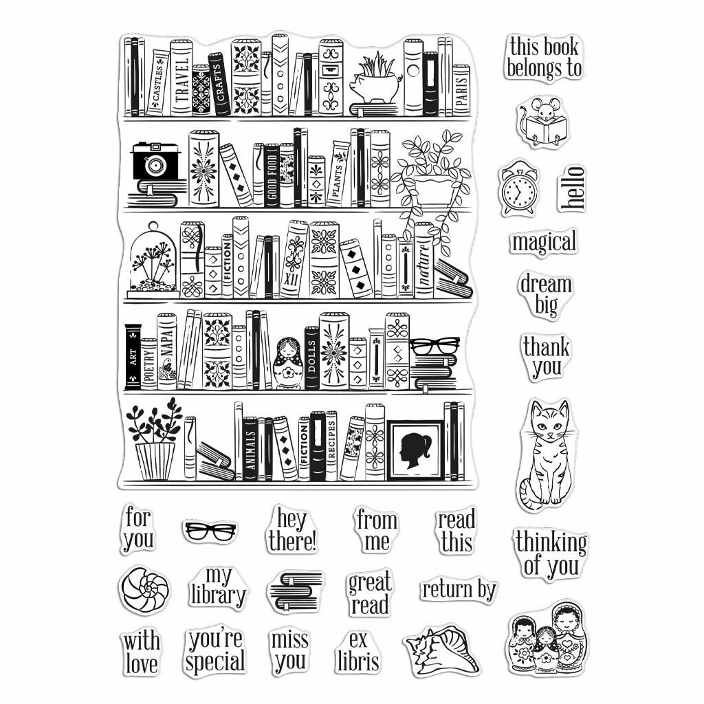 Hero Arts BOOKCASE PEEK-A-BOO PARTS
