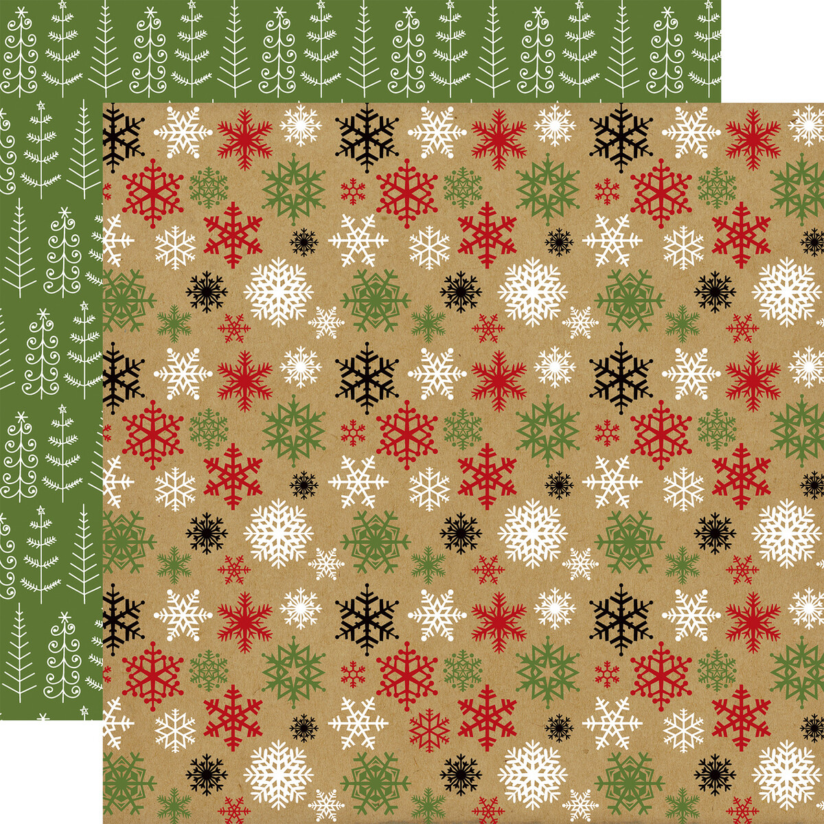 """Echo Park Celebrate Christmas Collection - Cold Outside 12"""" x 12"""" sheet"""
