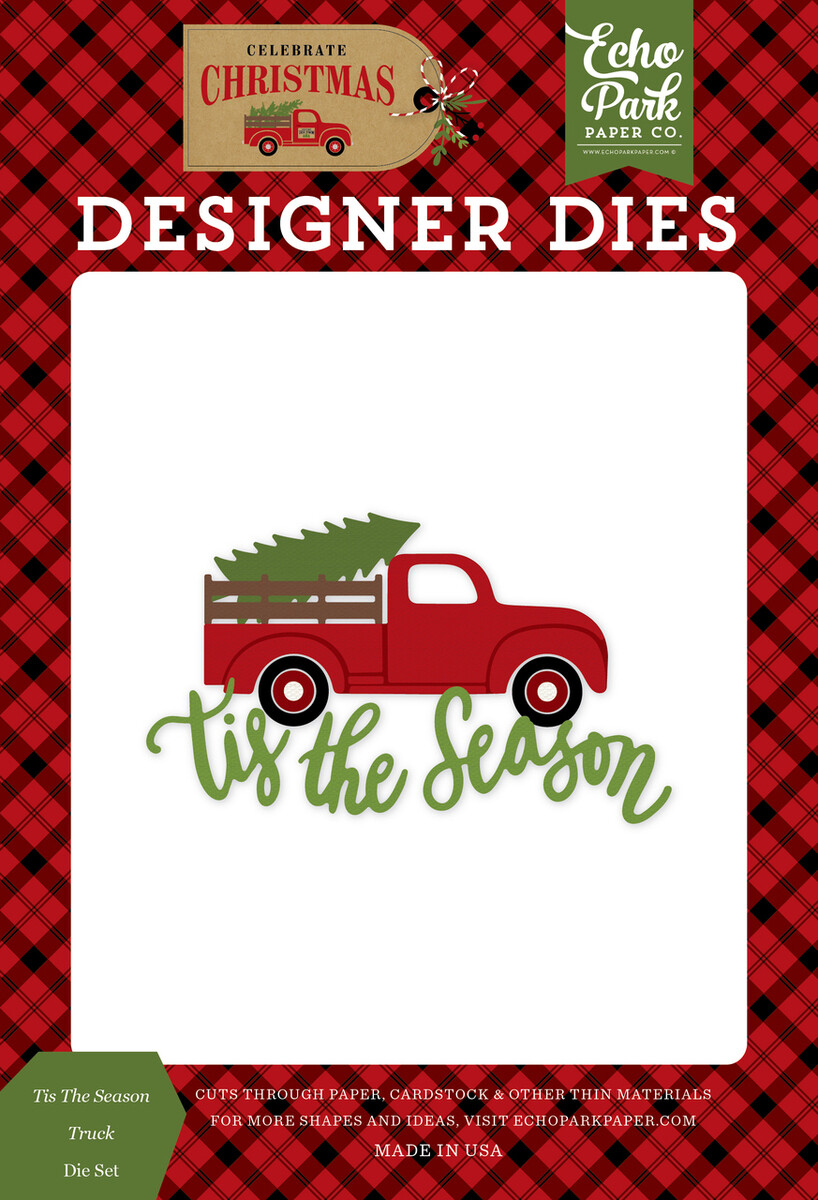 Echo Park - Celebrate Christmas - TIS THE SEASON TRUCK DIE