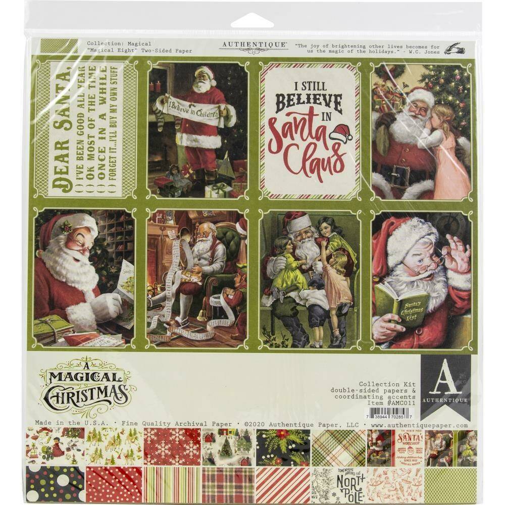 "Authentique A Magical Christmas Collection Kit 12""X12"""