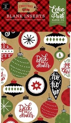 Echo Park Celebrate Christmas blank notebook inserts 2 pack