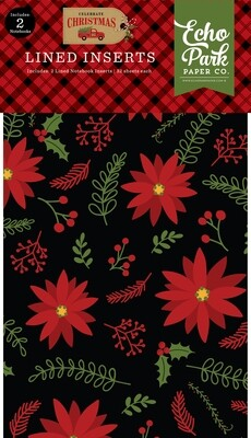 Echo Park Celebrate Christmas Lined notebook inserts 2 pack