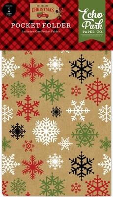 Echo Park Celebrate Christmas Pocket Folder Planner insert