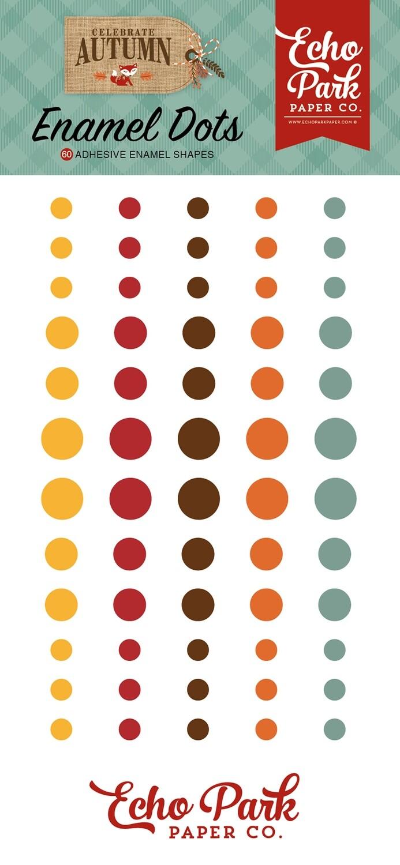 Echo Park Celebrate Autumn Adhesive Enamel Dots 60/Pkg