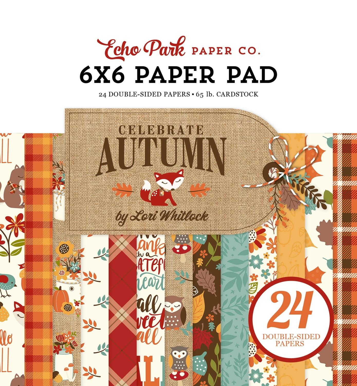 Echo Park Celebrate Autumn 6X6 Paper Pad,