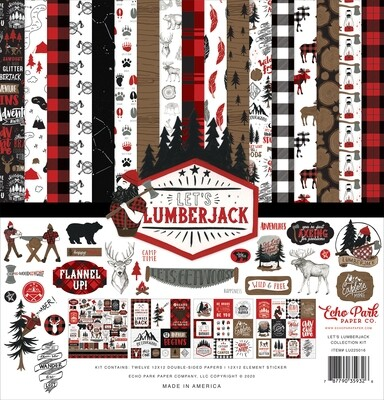 Echo Park Let's Lumberjack 12 x 12 collection pack
