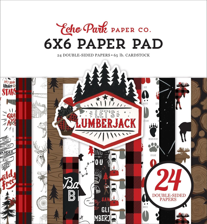 "Echo Park Double-Sided Paper Pad 6""X6"" 24/Pkg Let's Lumberjack"