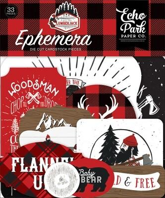 Echo Park Cardstock Ephemera 33/Pkg Icons, Let's Lumberjack