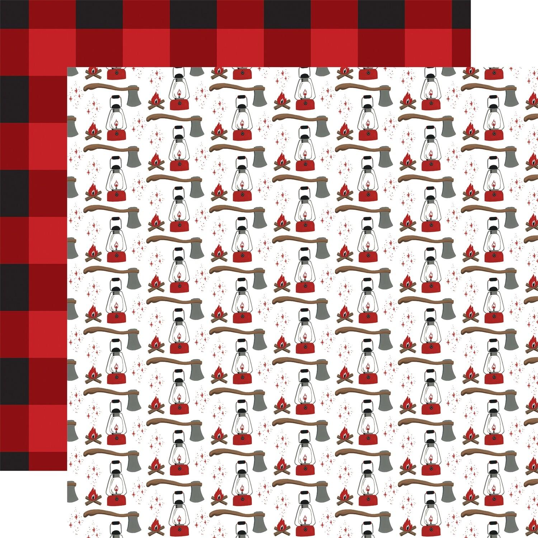 "Echo Park Let's Lumberjack Double-Sided Cardstock 12""X12"" Adventure Awaits"