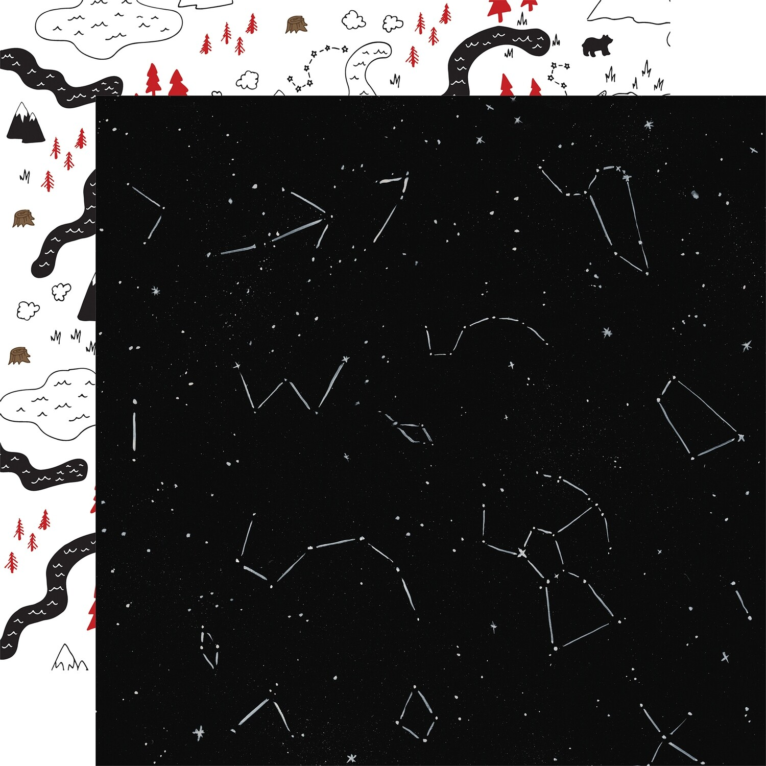 """Let's Lumberjack Double-Sided Cardstock 12""""X12"""" Under The Stars"""