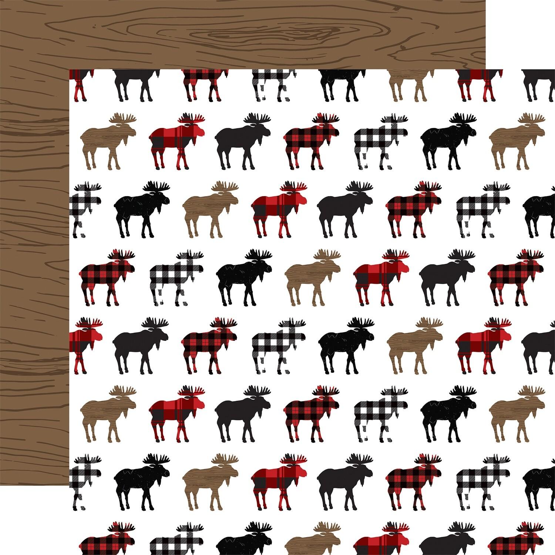 "Let's Lumberjack Double-Sided Cardstock 12""X12"" Moose"