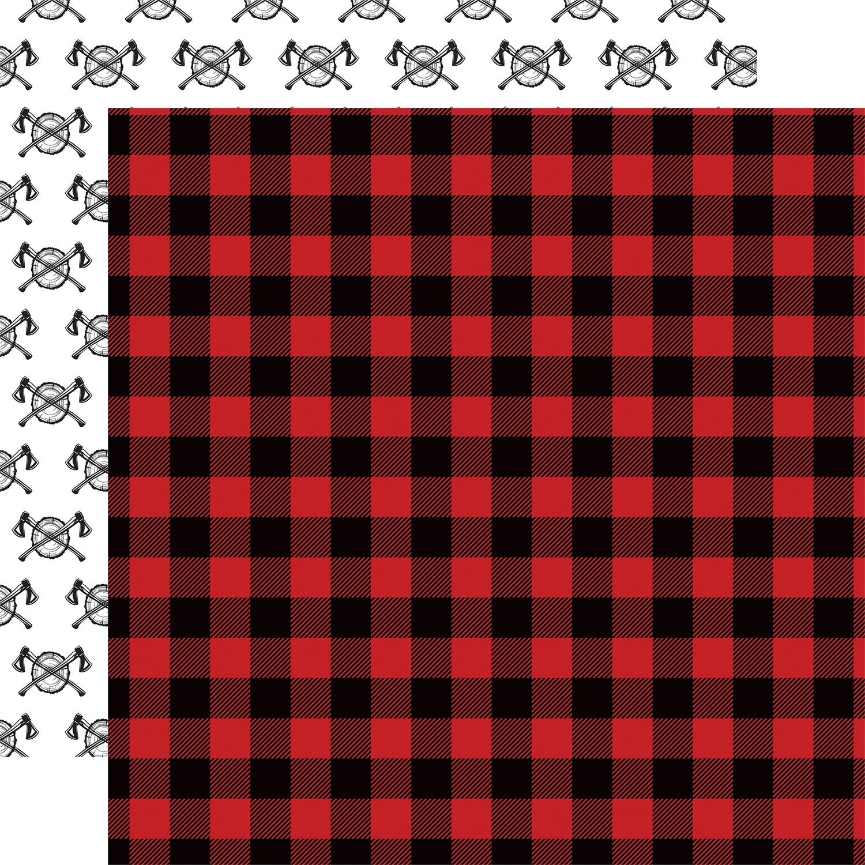 "Let's Lumberjack Double-Sided Cardstock 12""X12"" Flannel"