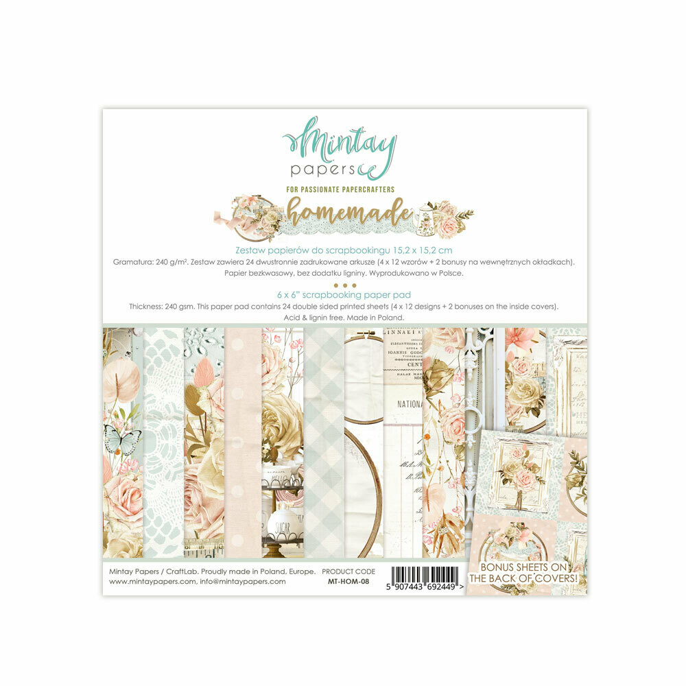 Mintay Papers Homemade 6x6 paper pad