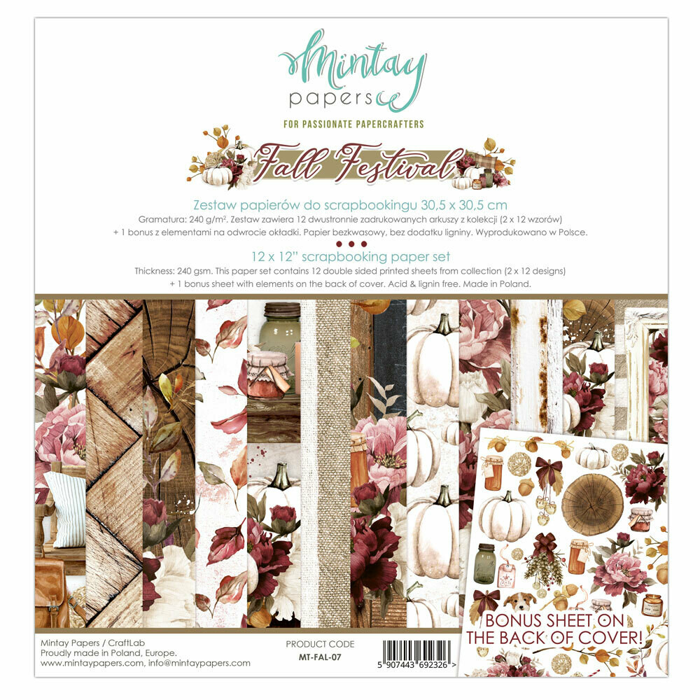 Mintay Papers FALL FESTIVAL 12 X 12 PAPER SET