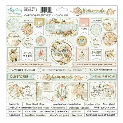 Mintay Papers HOMEMADE chipboard sticker sheet 12 x 12