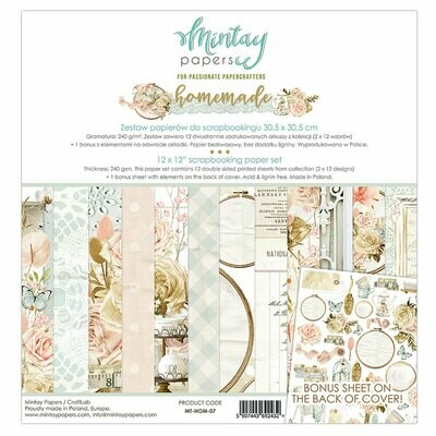 Mintay Papers HOMEMADE 12 x 12 scrapbook paper set