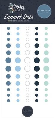 Carta Bella Adhesive Enamel Dots 60/Pkg Winter Market