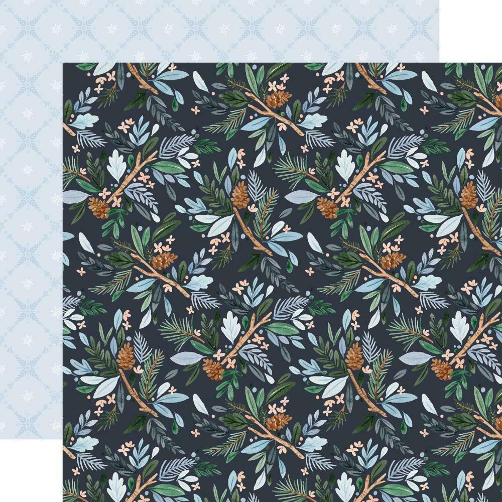 """Winter Market-Winter Floral- 12""""X12"""" sheet"""