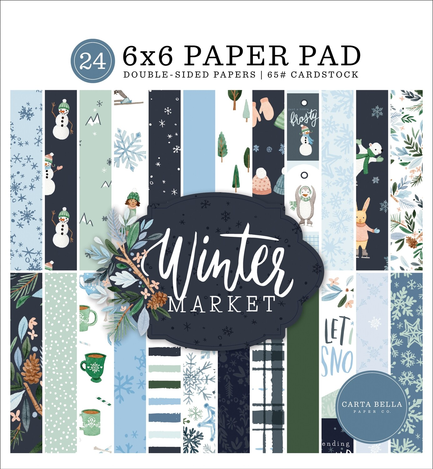 "Winter Market Double-Sided Paper Pad 6""X6"""