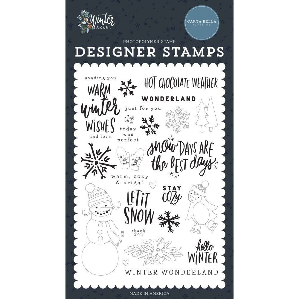 Carta Bella Stamps Warm Winter Wishes stamp set